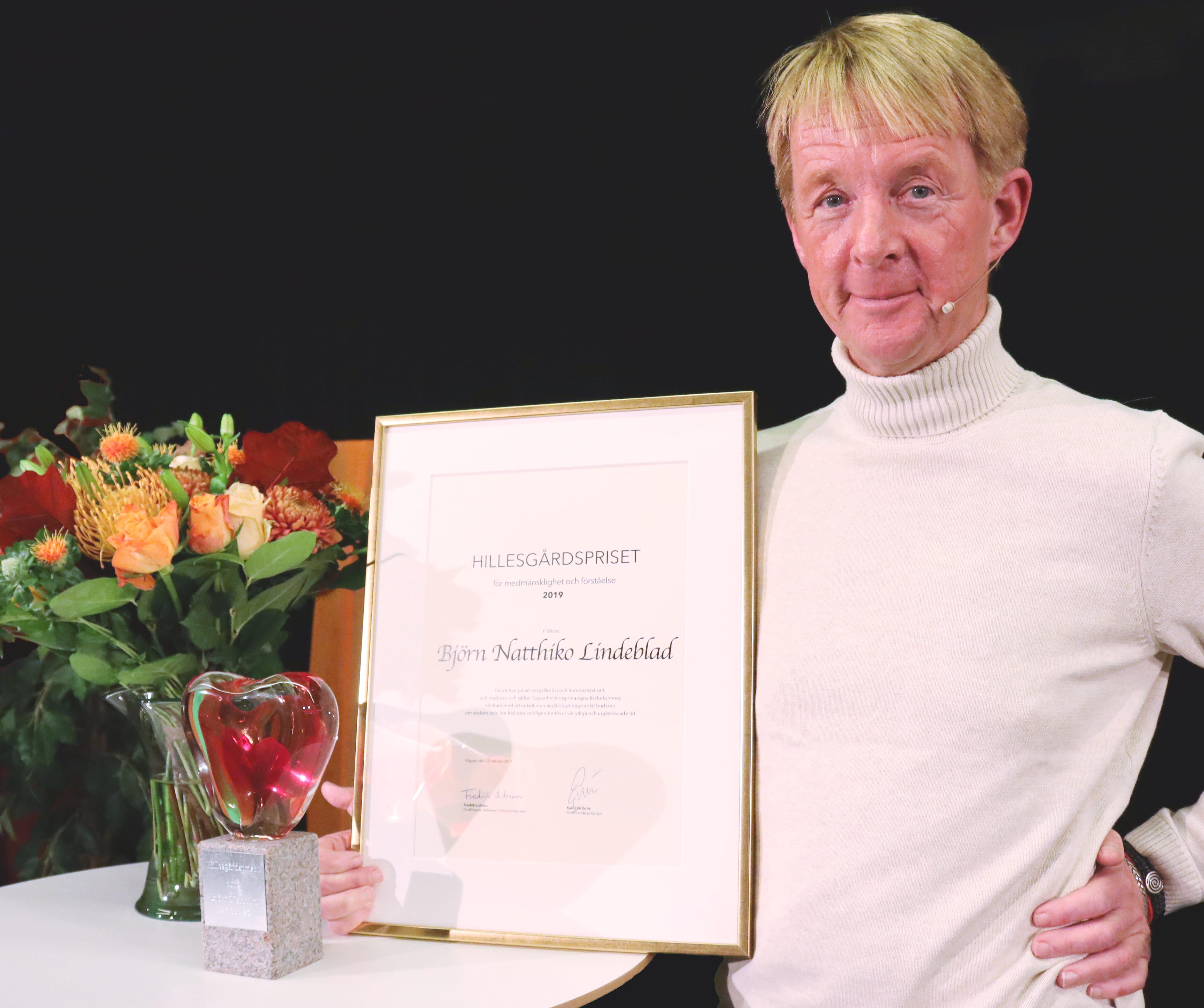 Björn Natthiko Lindeblad. Mottagare av 2019 års Hillesgårdspris för medmänsklighet och förståelse.
